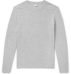 fa191ce3510a48 NN07 - Clive Waffle-Knit Mélange Cotton and Modal-Blend T-Shirt