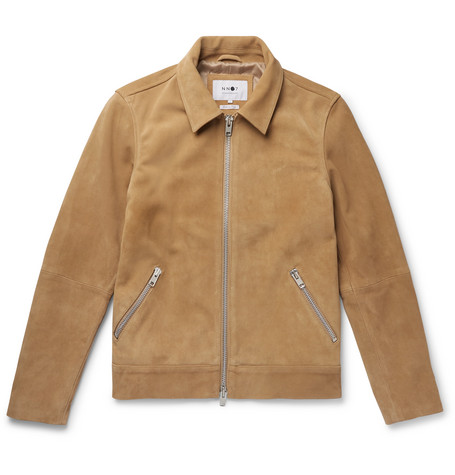 NN07 Tron Racer Slim-Fit Suede Jacket