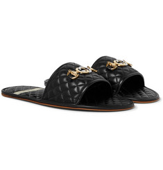 Gucci Horsebit Quilted Leather Slides
