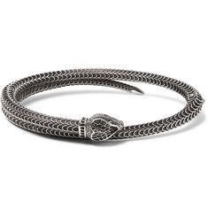 Gucci Snake Burnished Sterling Silver Cuff
