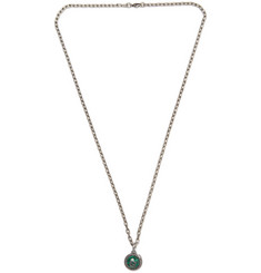 Gucci Burnished Sterling Silver and Resin Necklace