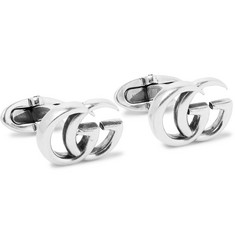Gucci GG Marmont Burnished Sterling Silver Cufflinks