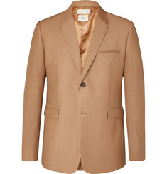 Bottega Veneta Camel Worsted Mohair and Wool-Blend Blazer
