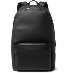Marco Polo Textured-leather Backpack - Black