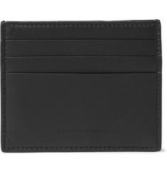 Intrecciato Leather Cardholder - Black