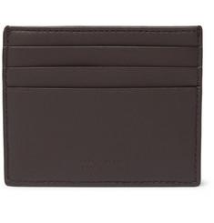 Intrecciato Leather Cardholder - Brown