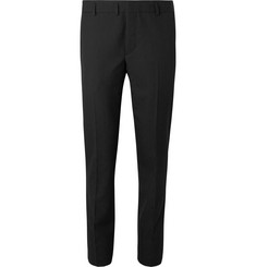 Saint Laurent Black Slim-Fit Virgin Wool-Jacquard Suit Trousers