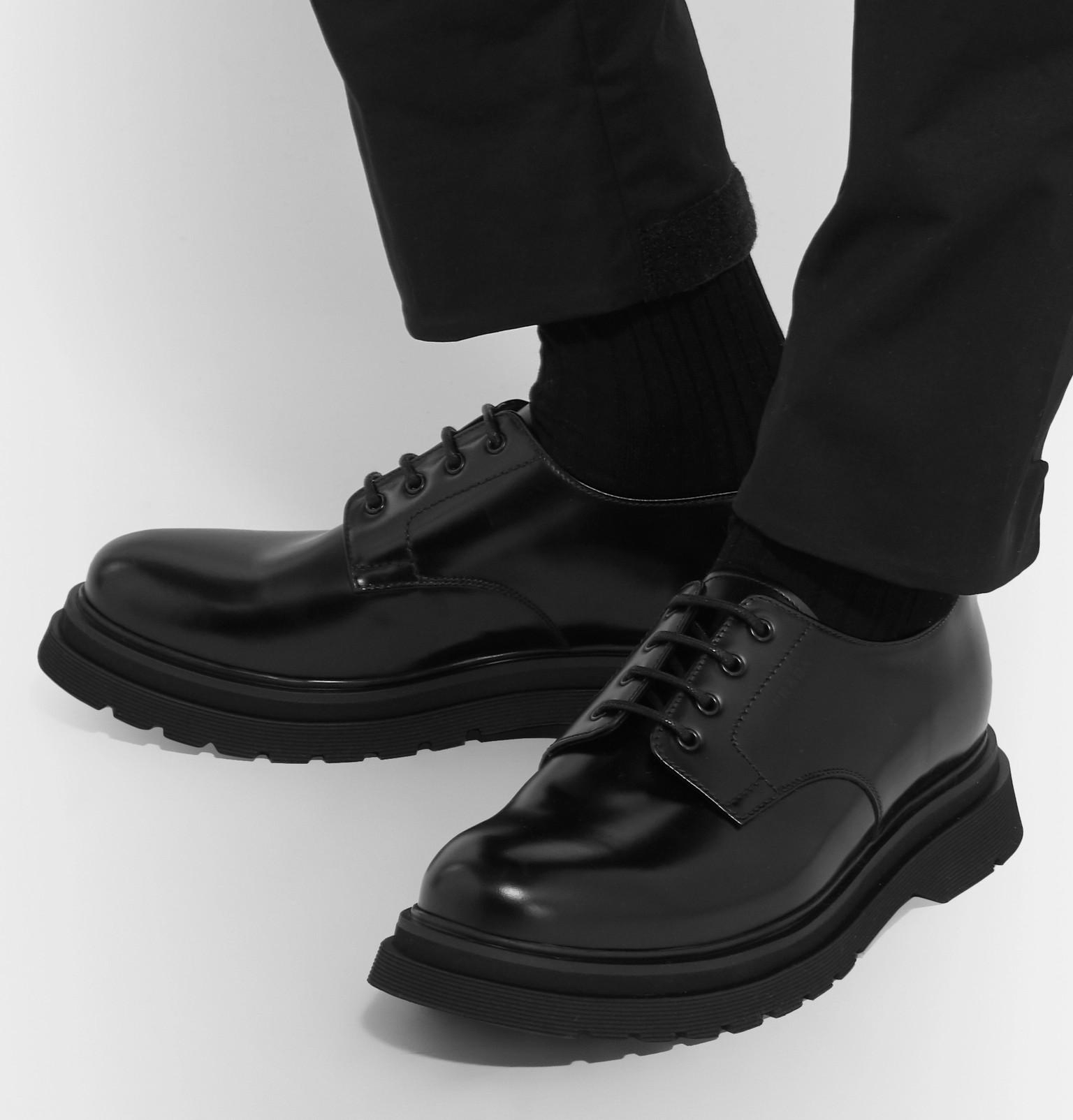 64694890fc97 Prada - Spazzolato Leather Derby Shoes