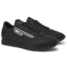 Prada Milano 70 Rubber and Leather-Trimmed Nylon Sneakers