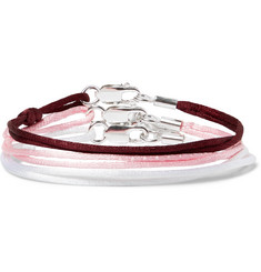 Rubinacci Set of Three Silk and Sterling Silver Bracelets