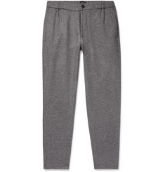 Club Monaco Lex Slim-Fit Tapered Mélange Twill Trousers
