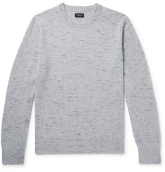 클럽 모나코 Club Monaco Melange Cashmere Sweater,Gray