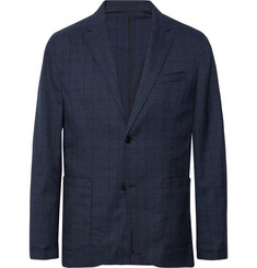 Club Monaco - Blue Grant Unstructured Checked Woven Blazer