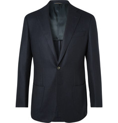 Thom Sweeney Navy Unstructured Wool and Cashmere-Blend Blazer