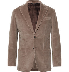 Thom Sweeney - Taupe Slim-Fit Unstructured Cotton-Corduroy Suit Jacket