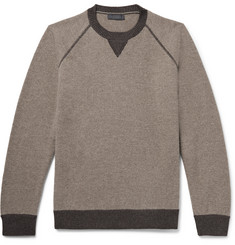 Thom Sweeney Mélange Wool and Cashmere-Blend Sweater