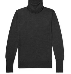 Thom Sweeney Mélange Merino Wool Rollneck Sweater