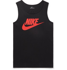 Nike Logo-Print Cotton-Jersey Tank Top
