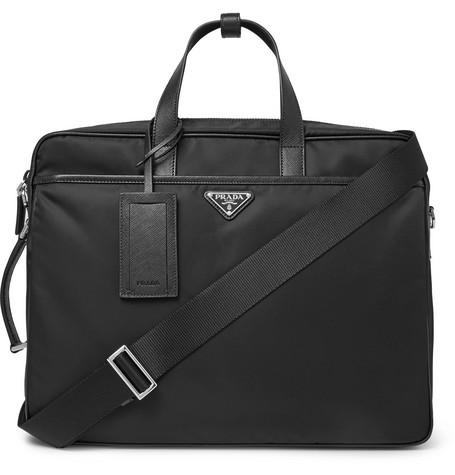 b55a529d9da2 Prada - Saffiano Leather-Trimmed Nylon Briefcase