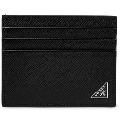 Prada Logo-Appliquéd Saffiano Leather Cardholder