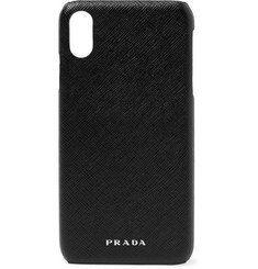 Prada Logo-Embossed Saffiano Leather iPhone XS Max Case