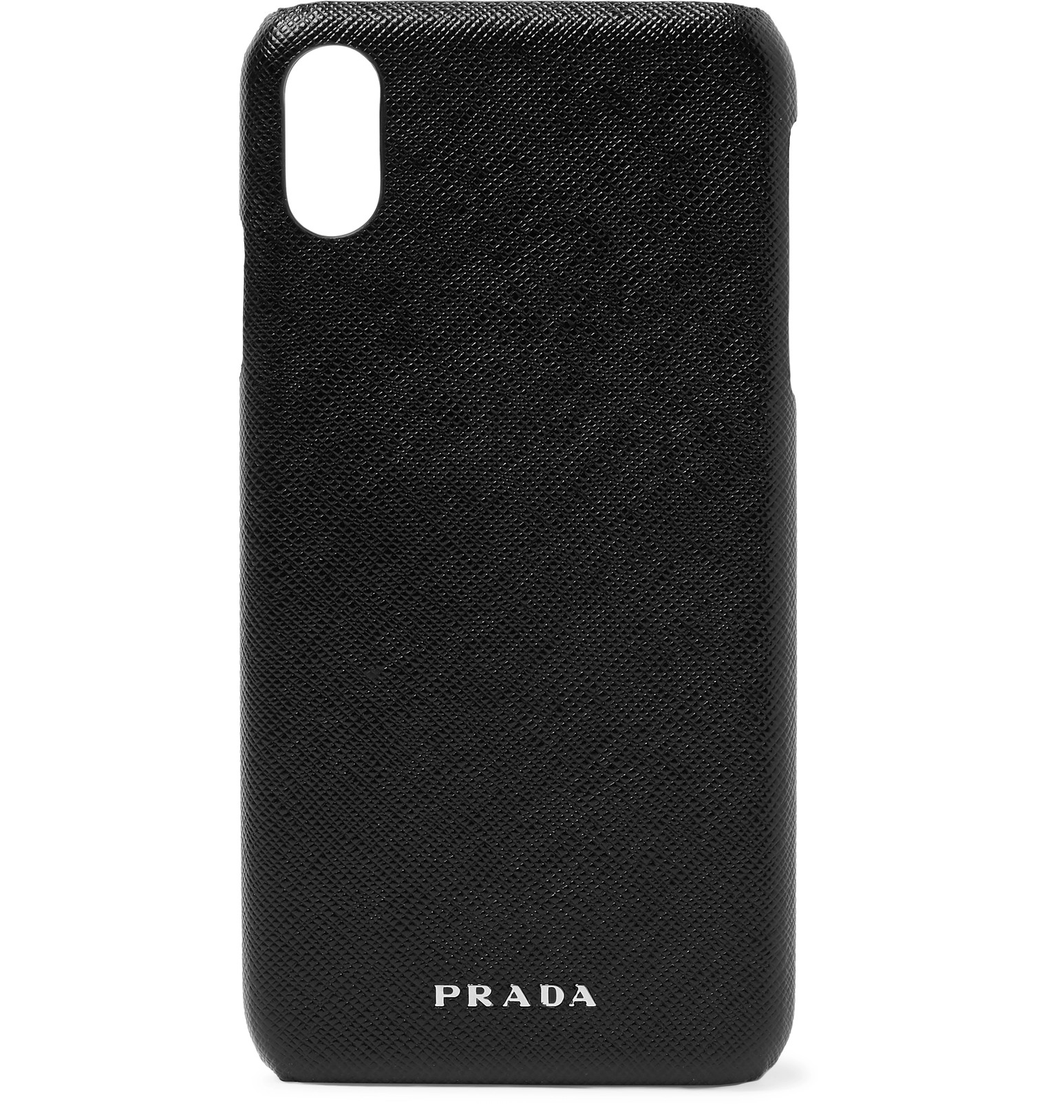 uk availability f3e1f 26efa Prada - Logo-Embossed Saffiano Leather iPhone XS Max Case