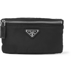 Prada Leather-Trimmed Nylon Armband Pouch