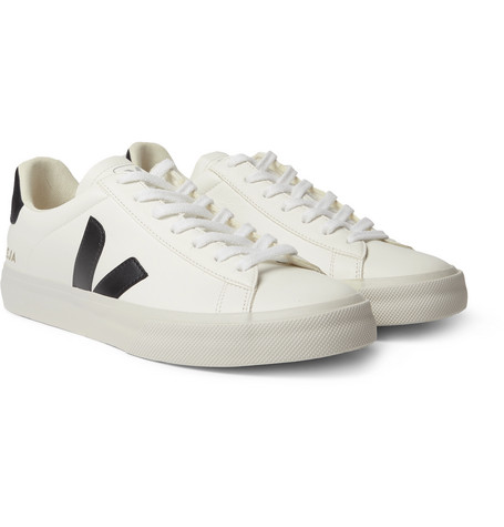 Campo Rubber Trimmed Leather Sneakers by Veja