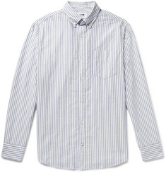 NN07 - Levon Button-Down Collar Striped Cotton Oxford Shirt
