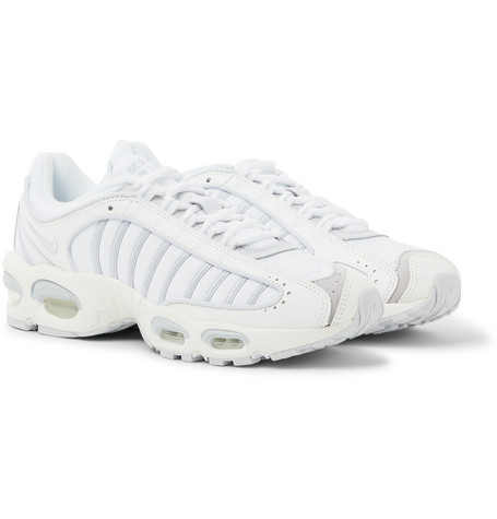 Nike Air Max Tailwind IV Suede and Rubber-Trimmed Mesh and Leather Sneakers