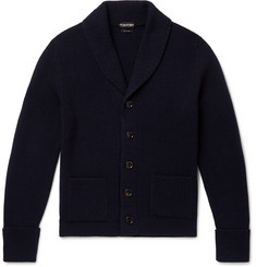 TOM FORD Slim-Fit Shawl-Collar Ribbed Cashmere Cardigan