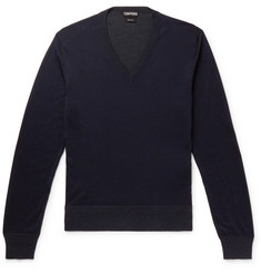 TOM FORD - Slim-Fit Silk Sweater