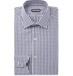 TOM FORD Slim-Fit Gingham Cotton-Poplin Shirt