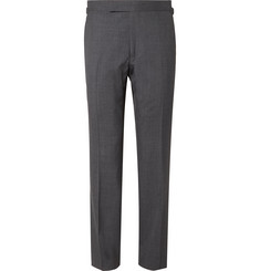 TOM FORD Dark-Grey Shelton Slim-Fit Super 120s Wool Suit Trousers