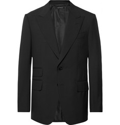 TOM FORD Black Shelton Slim-Fit Wool Suit Jacket
