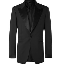 TOM FORD - Black Shelton Slim-Fit Satin-Trimmed Wool Tuxedo Jacket