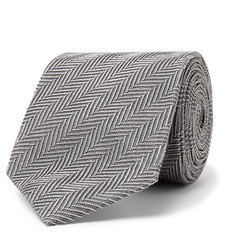 TOM FORD 9cm Herringbone Woven Silk and Cotton-Blend Tie