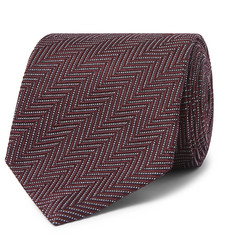 TOM FORD - 8cm Herringbone Woven Silk and Cotton-Blend Tie