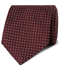 TOM FORD - 8cm Pin-Dot Silk-Jacquard Tie