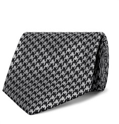 TOM FORD 8cm Houndstooth Silk-Blend Tie