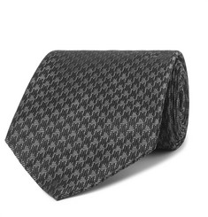 TOM FORD - 8cm Houndstooth Woven Silk-Blend Tie