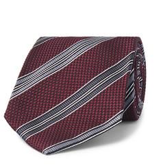 2666e21d8f0f TOM FORD - 8cm Striped Woven Silk Tie