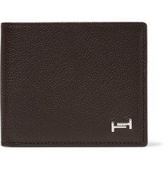 Tod's Logo-Appliquéd Full-Grain Leather Billfold Wallet