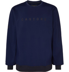 CASTORE Ribiero Logo-Print Fleece-Back Stretch-Jersey Sweatshirt