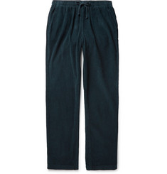 Save Khaki United - Navy Tapered Cotton-Corduroy Drawstring Trousers