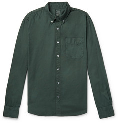 Save Khaki United Button-Down Collar Garment-Dyed Cotton Oxford Shirt