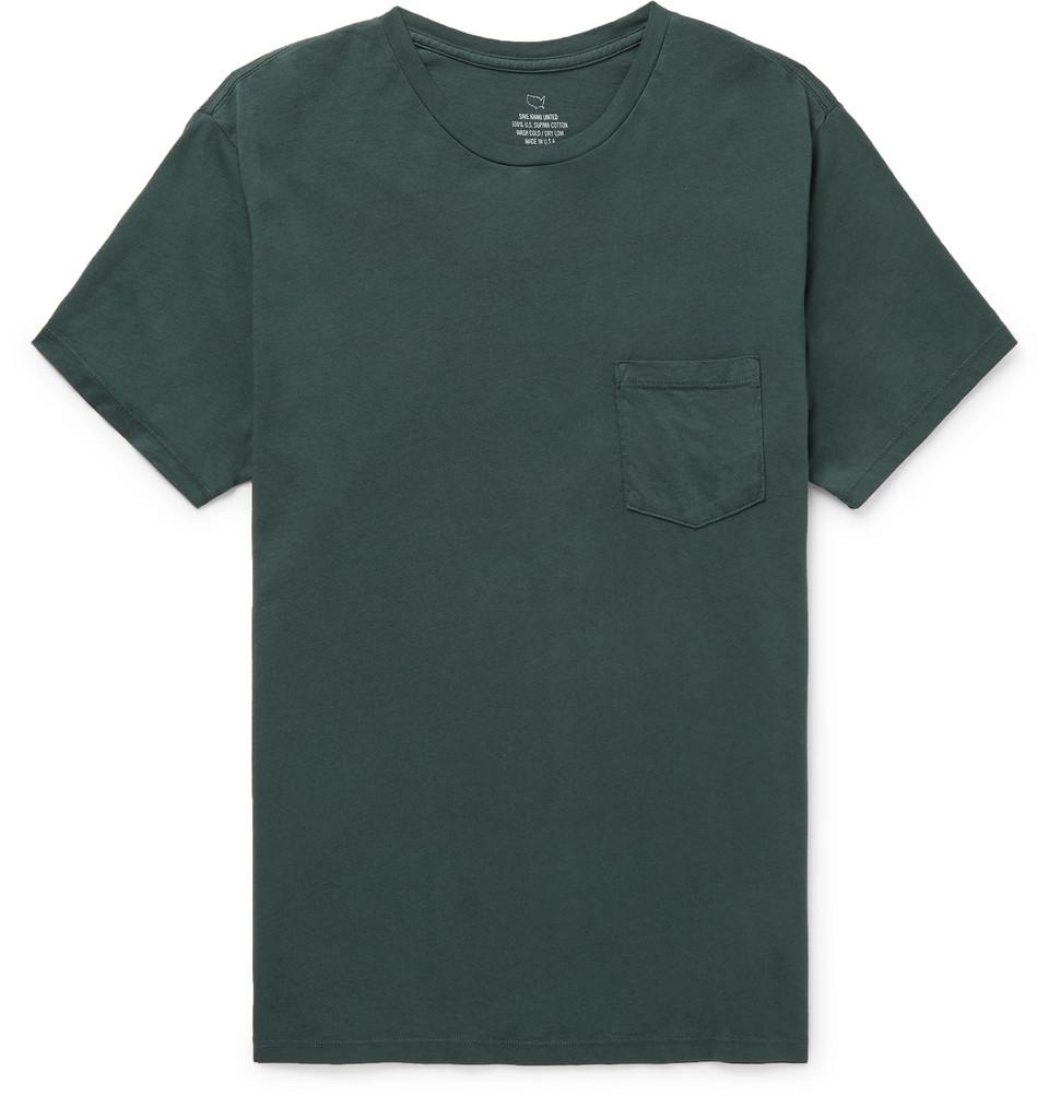 Supima Cotton-jersey T-shirt - Green
