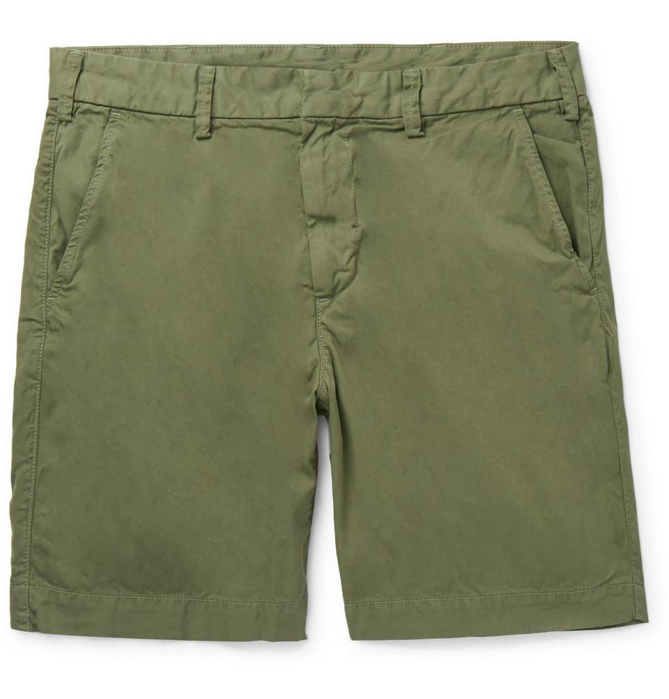 Cotton-twill Bermuda Shorts - Green