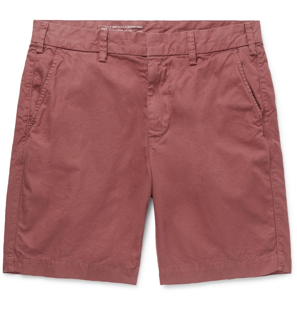 Cotton-twill Bermuda Shorts - Red