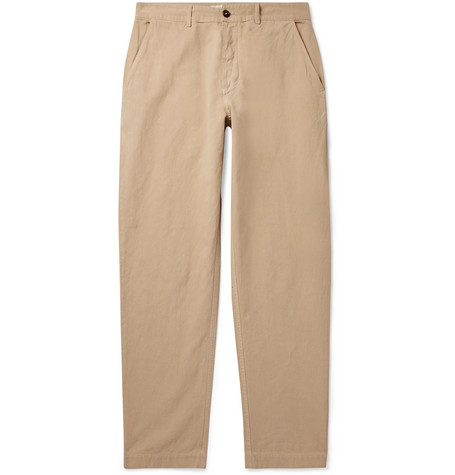Universal Works Tapered Linen and Cotton-Blend Trousers
